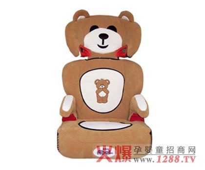 安贝儿卡通小熊安全座椅