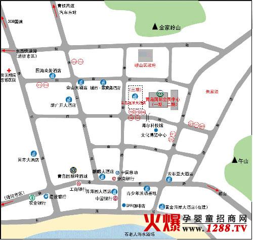 青岛国际会展中心周边布局图