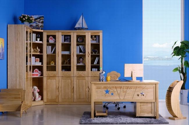 月亮船儿童书房家具
