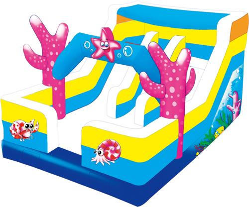 奇乐儿海洋主题气模滑梯
