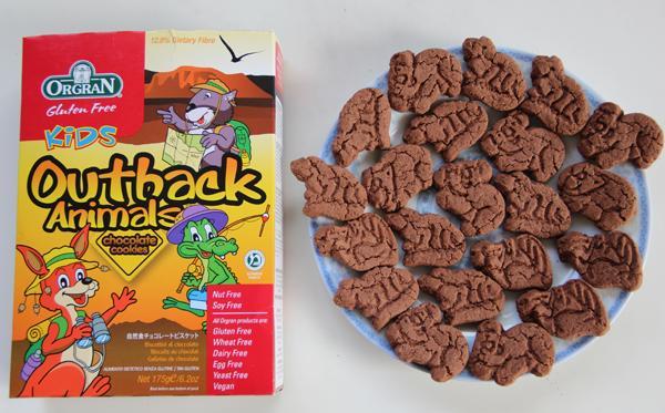 orange澳洲特色动物儿童无敏巧克力味盒装饼干