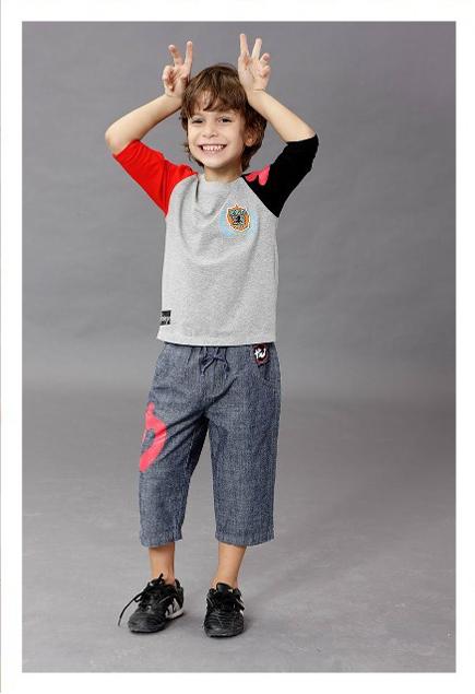 迪士尼小龙大功夫短袖男童装