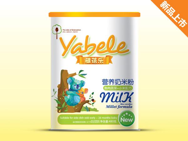 雅蓓乐鱼肉蔬菜+小米配方营养奶米粉