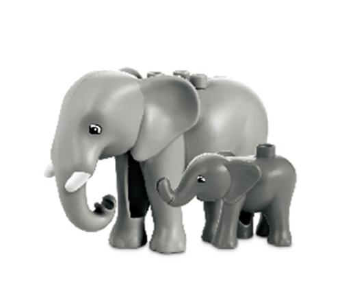 乐高大象积木玩具