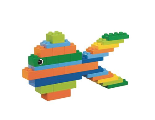 乐高小鱼积木玩具