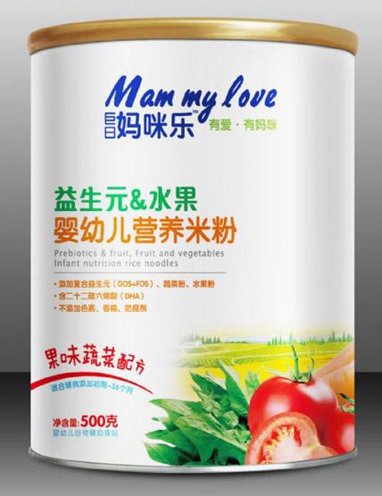 巨日妈咪乐益生元水果婴幼儿营养米粉果味蔬菜配方