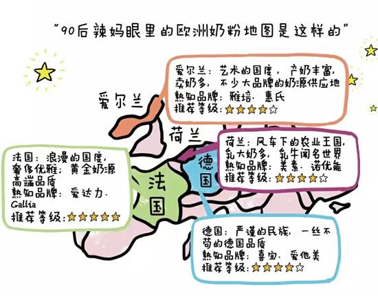 【爱达力】—90后辣妈手绘欧洲奶粉地图走红