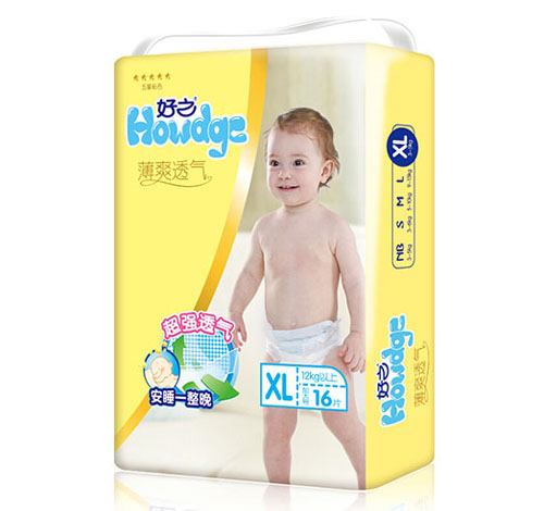 好之薄爽透气婴儿纸尿裤XL码16片-火爆孕婴童