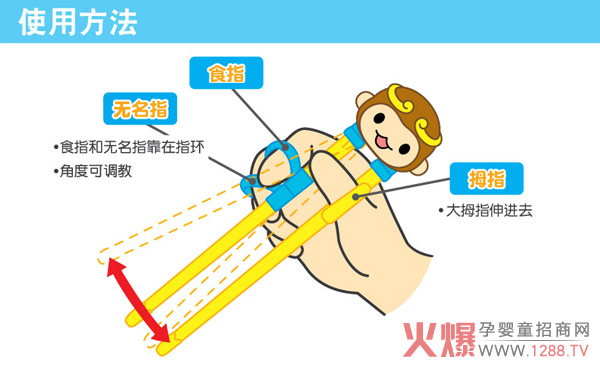 优优马骝幼童训练筷子使用方法