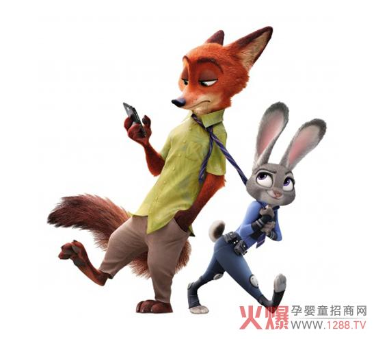 动漫玩具还包括大热电影《疯狂动物城》各个角色的