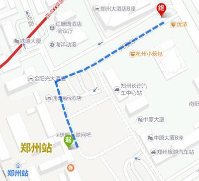 火车站东广场到郑州大酒店地图图片