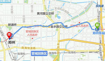 新郑国际机场→郑州大酒店 1.郑州东站→郑州大酒店