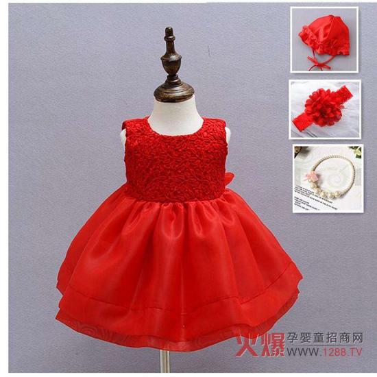 公主系类的女宝宝衣服总跟蕾丝,珠子密不可分,尤其是各种各样的裙子.图片