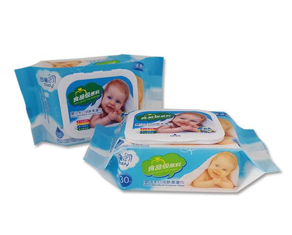 永润可爱贝贝婴儿手口洁肤湿巾(蓝)30片