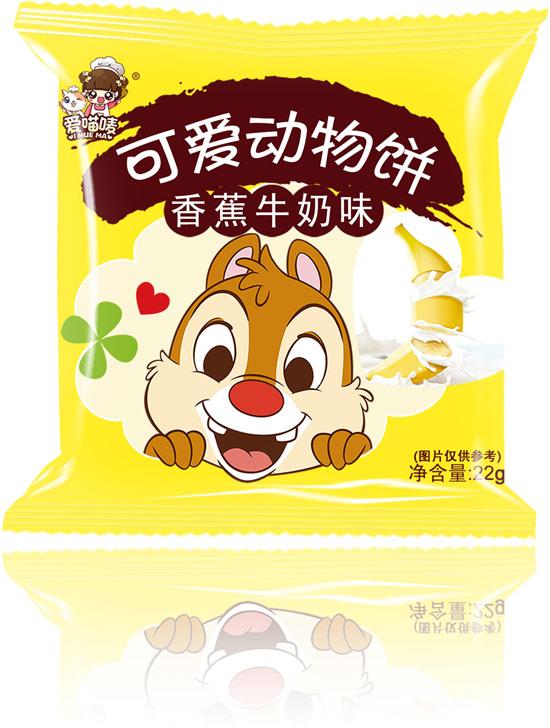 爱喵唛可爱动物饼香蕉牛奶味