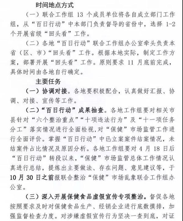 """保健市场乱象整治不松劲:13部门开展百日行动""""回头看"""""""
