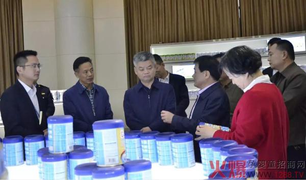 湖南省市场监督管理局陈跃文副局长一行莅临欧比佳乳业视察指导