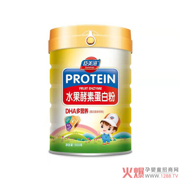 臣美滋水果酵素蛋白粉 双蛋白更营养