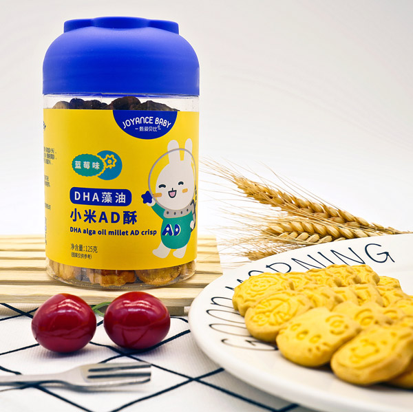 甄爱贝比DHA藻油小米AD酥-蓝莓味