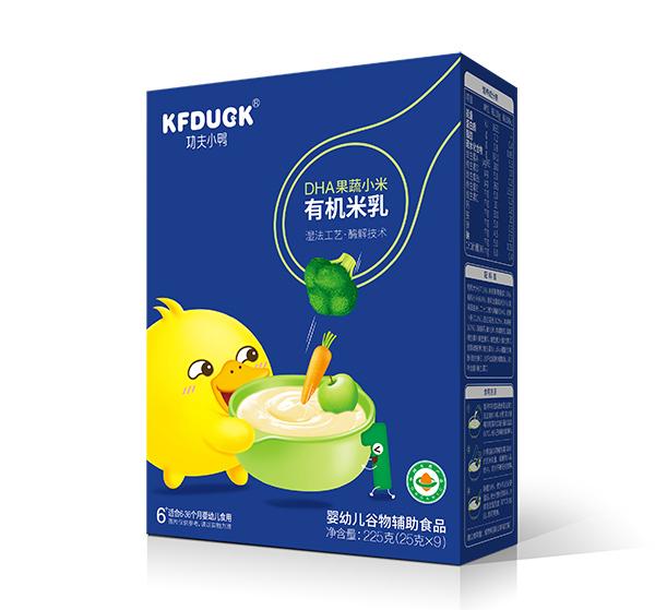 功夫小鸭有机米乳 配料简单营养丰富