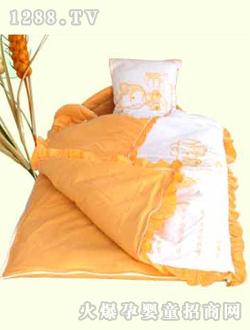 红色 婴儿 百信/百信橘黄婴儿睡袋