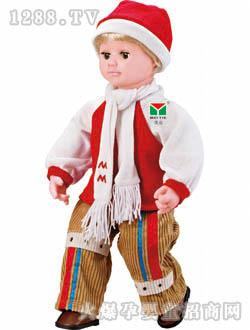 超级乐乐白帽长发娃娃