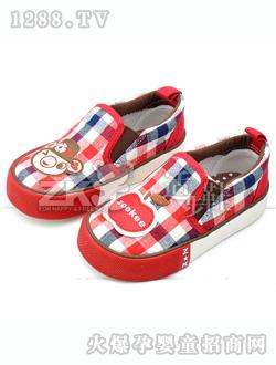 zk红色帆布鞋