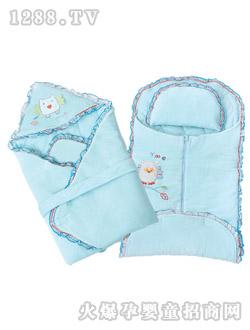 汕头市/婴梦儿剪绒婴儿睡袋三件套