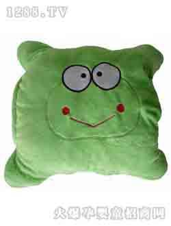 万灵绿色卡通暖手套枕