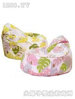 格罗尼婴儿坐垫树叶花纹