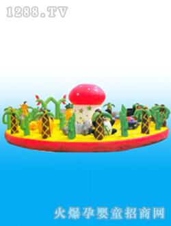 正原充气玩具圆形动物乐园