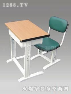 书童原木桌面课桌椅
