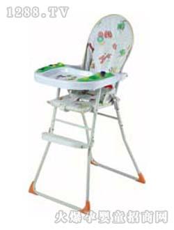 仙鹤蓝色儿童桌椅