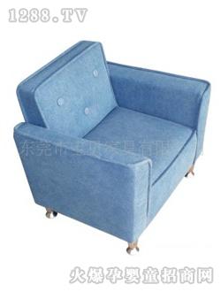 宝贝儿童沙发淡蓝色