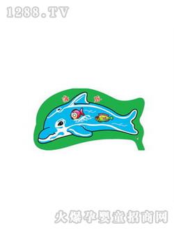海豚颜色简笔画彩色