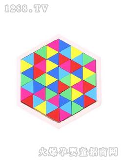 木马玩具趣味拼图积木三角形