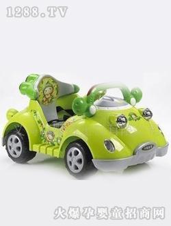 小龙哈彼绿色甲壳虫电动汽车