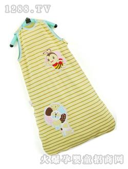卡通 西贝/呼西贝黄色条纹婴儿睡袋