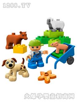 乐高农场动物玩具