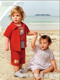 樱桃贝贝儿童沙滩套装 广州樱桃贝贝服饰公司图片