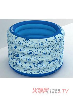 欧培充气圆形游泳池方块图案