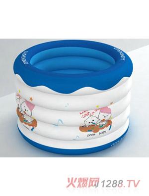 欧培充气圆形游泳池可爱小猫图案