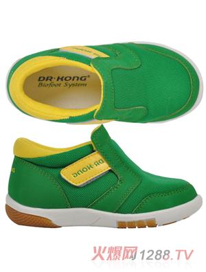 江博士幼儿学步鞋绿色布鞋