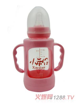 小希仔防摔玻璃双柄自动奶瓶120ml