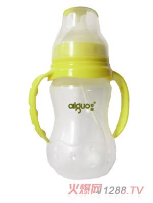 爱果260ml宽口圆弧握把自动大奶瓶