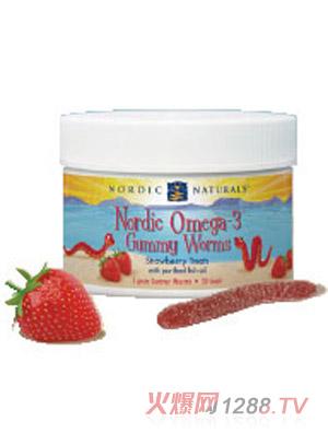 挪帝克Omega-3草莓条形软糖