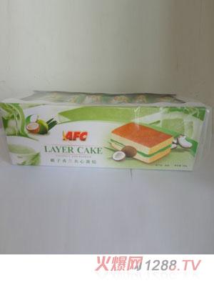 AFC椰子香兰夹心蛋糕