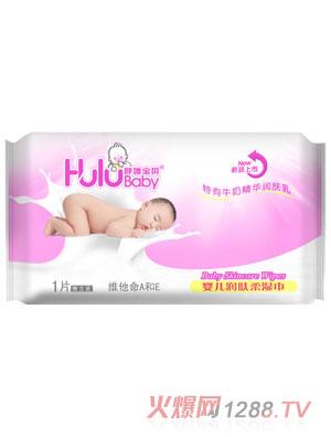 呼噜宝贝婴儿润肤柔湿巾1片装