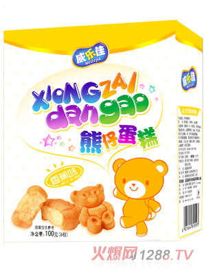 蛋糕/威乐佳熊仔蛋糕香蕉味...