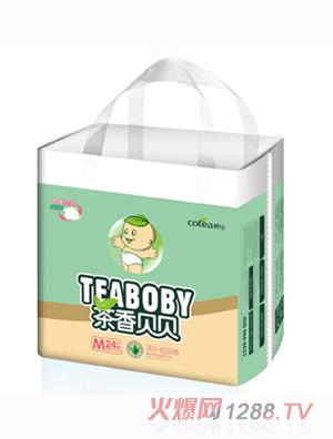 茶香贝贝护体绵柔茶叶纸尿裤M24片